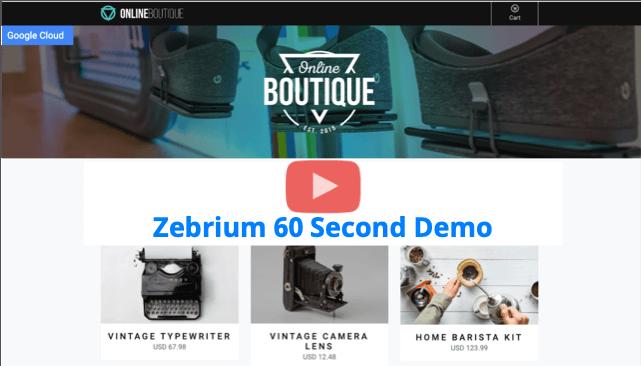 Zebrium 60 second demo