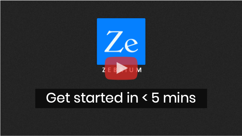 get started in less than 5 mins