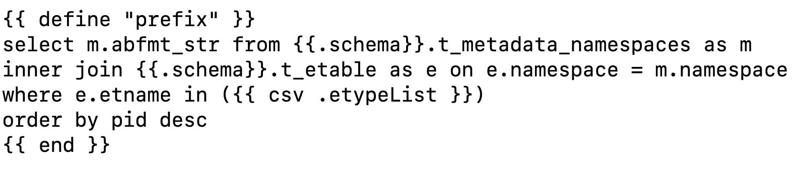 Zebrium SQL template
