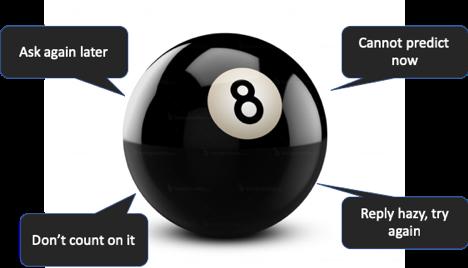 magic 8 ball log searching