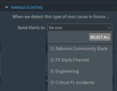 manage alerting