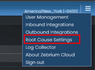 root cause settings